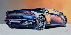 2019 Lamborghini Hurricane by Roz Wilson -  sized 40x20 inches. Available from Whitewall Galleries